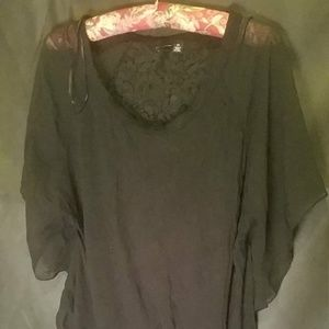 Relativity Size XL Black Shirt with short sleeves